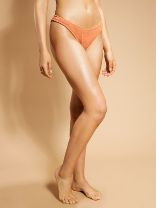 Nude Lucy Crinkle High Leg Brief in Sienna