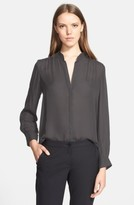 L'Agence Women's 'Bianca' Band Collar Silk Blouse
