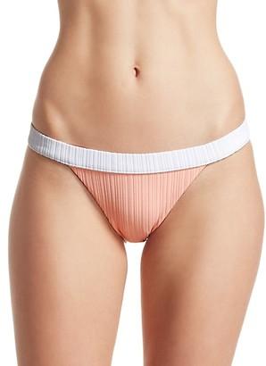 Onia Leila Two-Tone Bikini Bottom