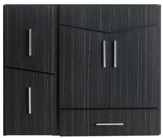 """Brayden Studio Dorazio Modern Wall Mount 35"""" Single Bathroom Vanity Base Only Brayden Studio"""