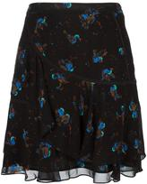 Coach bird print skirt - women - Silk/Cupro - 2