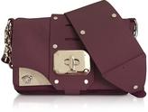 Versace Stardust Burgundy Leather Mini Shoulder Bag