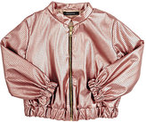 Lamantine LAMANTINE PERFORATED BOMBER JACKET-PINK SIZE 8