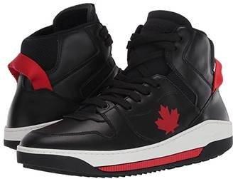 DSQUARED2 Barkley High Top Sneaker (Black/Red) Men's Shoes