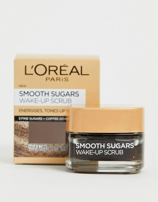 L'Oreal Smooth Sugar Wake-Up Coffee Face and Lip Scrub 50ml