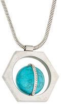 Rachel Zoe Hexagon Stone Pendant Necklace