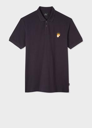 Paul Smith Men's Navy Cotton-Pique 'Angel Monkey' Polo Shirt