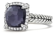 David Yurman Chatelaine Pave Bezel Ring with Black Orchid and Diamonds