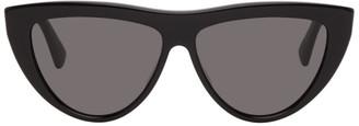 Bottega Veneta Black Half Circle Sunglasses
