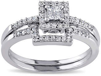 MODERN BRIDE 1/3 CT. T.W. Diamond 10K White Gold Ring Set