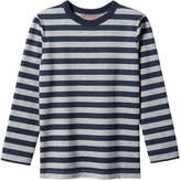 Joe Fresh Kid Boys' Stripe Top, Light Navy (Size S)