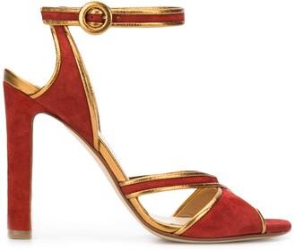 Francesco Russo crossover strap 110mm heeled sandals