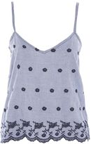 Topshop Gingham Embroidered Night Camisole Top
