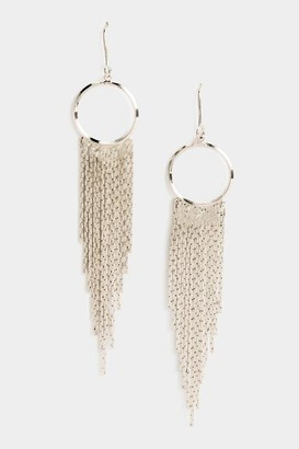 francesca's Layla Metal Fringe Drop Earrings - Silver