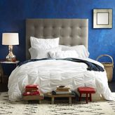 west elm Tall Leather Grid-Tufted Headboard