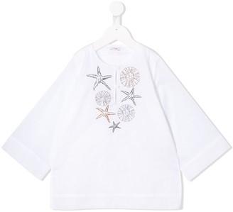 Il Gufo embroidered tunic top