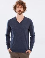 John Smedley Long Sleeve V-Neck Extra Fine Merino Top