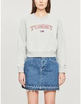 Tommy Jeans Neon outline logo cotton-blend sweatshirt