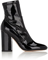 Valentino Women's Stretch-Patent-Leather Ankle Boots-Black