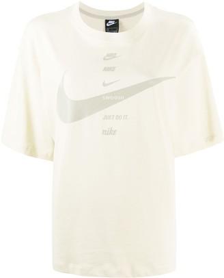 Nike Swoosh print T-shirt
