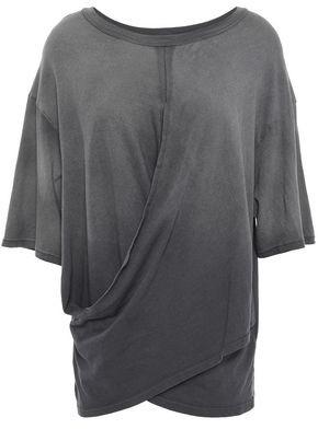 Current/Elliott The Draped Cotton-jersey T-shirt