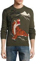 Ralph Lauren Tiger Intarsia Wool-Cashmere Sweater