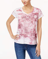 Style&Co. Style & Co Tie-Dyed T-Shirt, Created for Macy's