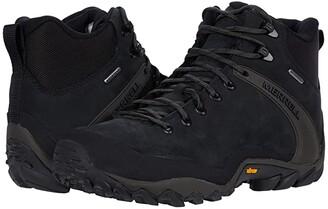 Merrell Chameleon 8 Leather Mid Waterproof (Black) Men's Boots