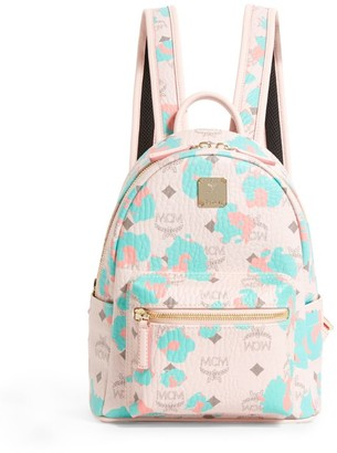 MCM Small Floral Leopard Stark Backpack