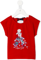 Lapin House - floral print T-shirt - kids - Silk/Cotton/Spandex/Elastane - 2 yrs