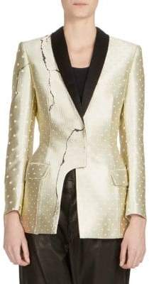 Haider Ackermann Asymmetric Metallic Jacket