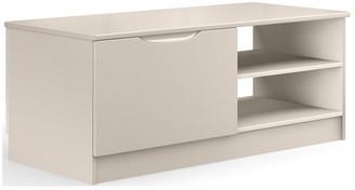 BilbaoReady Assembled High Gloss Storage Coffee Table - Cashmere