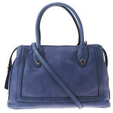 B. Makowsky As Is Glove Leather Zip Top Conver. Satchel