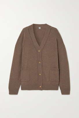 Totême Langre Cashmere And Wool-blend Cardigan - Brown