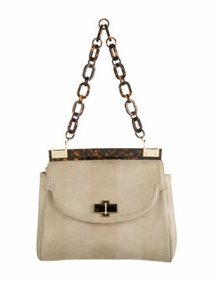 Tory Burch Suede Shoulder Bag Gold
