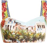 Dolce & Gabbana Mondello-print cropped top