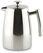 Café Ole Belmont 16 Cup Double Walled Cafetiere Coffee Maker, Mirror Finish, 2 Litre