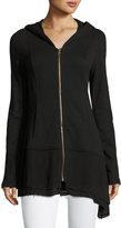 XCVI Nori Zip-Front Cardigan, Black
