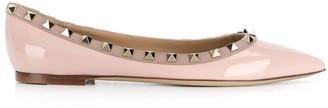 Valentino Rockstud-embellished ballerina shoes