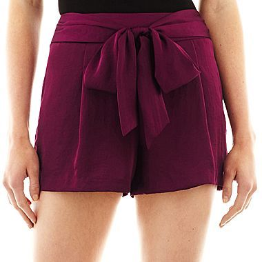 JCPenney Bisou Bisou® Tie-Front Soft Shorts