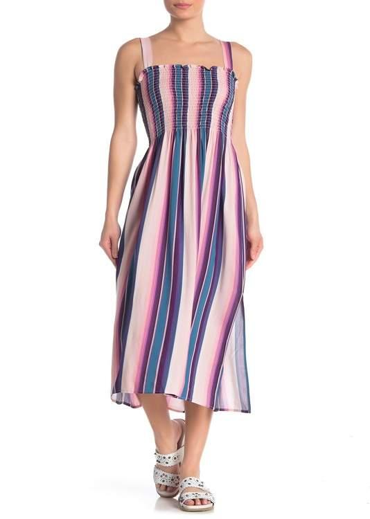 BeBop Printed Smocked Midi Dress
