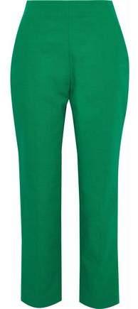 DELPOZO Cotton Straight-Leg Pants