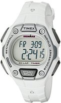 Timex Women's TW5K89400 Ironman Classic 30 Mid-Size White/Silver-Tone Resin Strap Watch