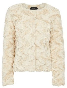 Dorothy Perkins Womens Vero Moda White Faux Fur Coat, White