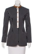 Geoffrey Beene Striped Structured Jacket