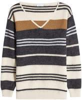 Brunello Cucinelli Striped Wool, Cashmere and Silk Pullover