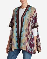 Eddie Bauer Women's Geometric Poncho Sweater