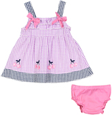 Sweet & Soft Purple Seersucker A-Line Dress & Diaper Cover - Infant
