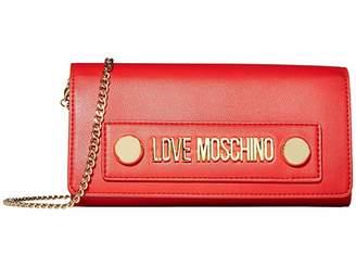 Love Moschino Love Log Stud Chain Wallet