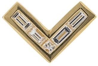 Azlee 24kt yellow gold diamond Cosmic stud earrings